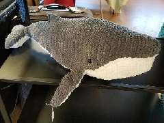 Stuffed Humpback Whale